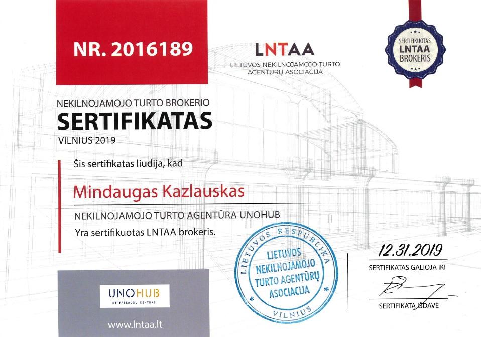 LNTAA sertifikuotas brokeris Mindaugas Kazlauskas UNOHUB